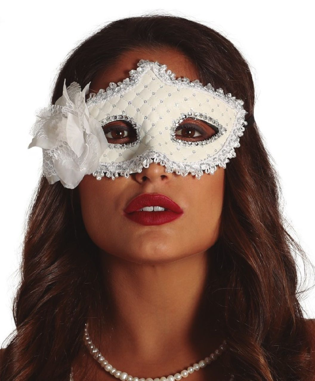 Ladies Winter Queen Masquerade Mask Masquerade