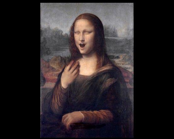 """""""Mona Lisa"""" yawns.  """"O, pardon me."""" by D'Lynn aka Spohurafan"""