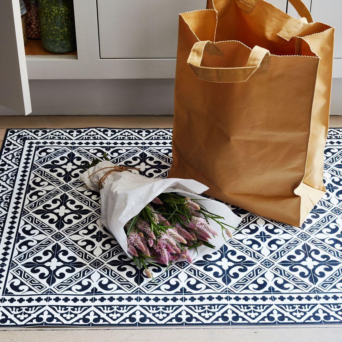 Mediterranean Vinyl Kitchen Mats Home Kitchen Mat