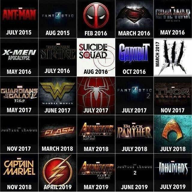 marvel film 2016