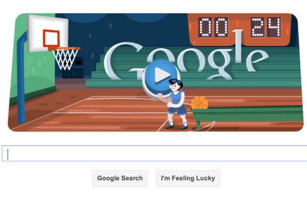 London 2012 Basketball Interactive Google Doodle For Olympic Basketball How Many Hoops Can You Shoot Basketball Doodles Games Google Doodles
