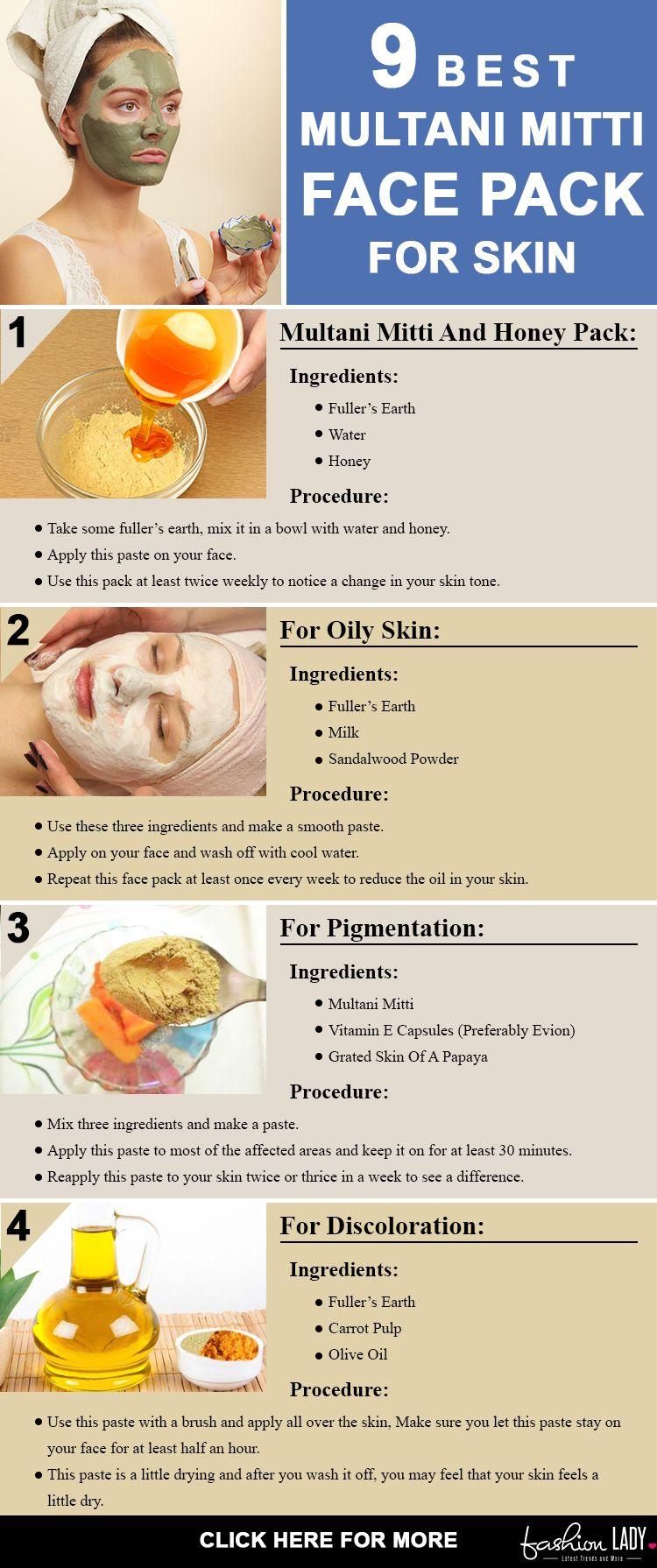 10 Best Multani Mitti Face Pack For Skin  Multani mitti face pack