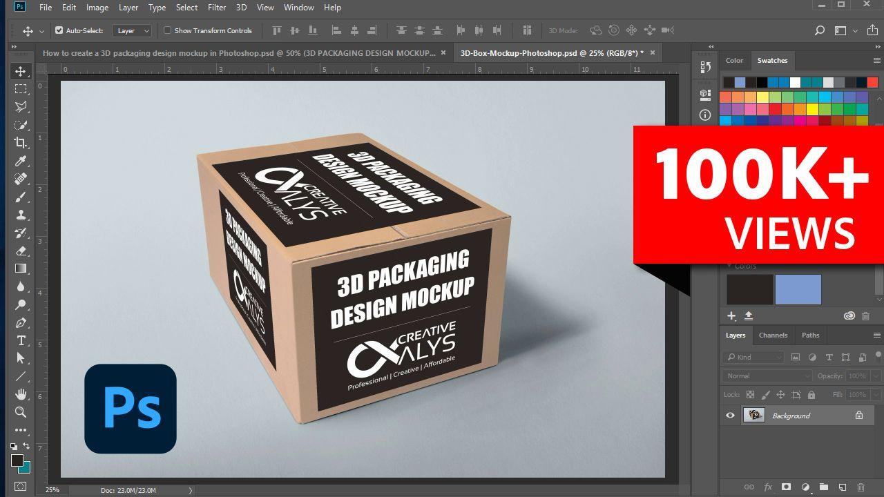 How To Create 3d Packaging Design Mockup In Photoshop In 2021 Packaging Design Mockup Design Photoshop Tutorial