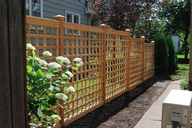 Lattice Sideyard Screen Garden Trellis Fence Design Lattice