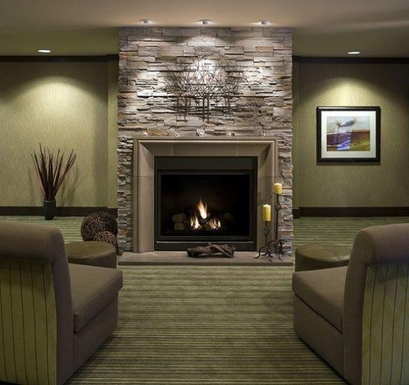 Modern Living Room Fireplace Design modern living room with brick fireplace otvfmwac | fireplace