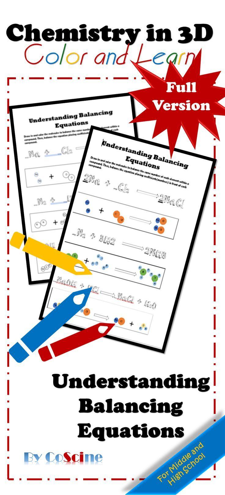 Balancing Chemical Equations Worksheet High school