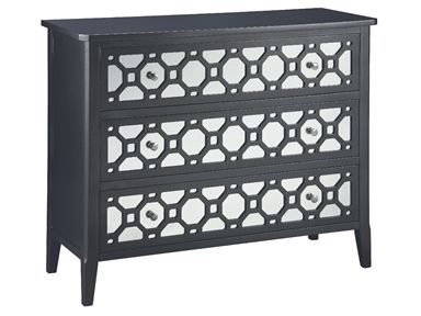 Shop for Stein World Vivien Chest, 47628, and other Living Room Chests and Dressers at Stein World in Memphis, TN. All that glitters is not gold?but it is a shimmering gunmetal. This richly finished three-drawer, mirrored-front accent chest with its honeycomb fretwork and polished hardware will add a touch of sparkle to any room.