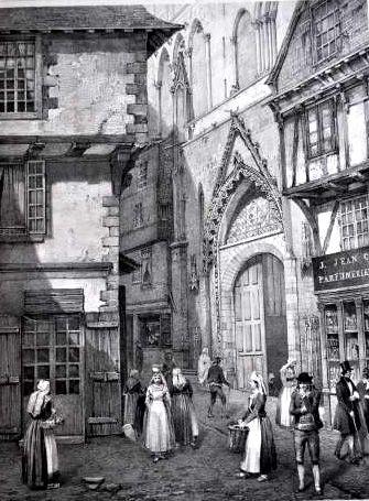 Lithographie cathédrale de Vannes