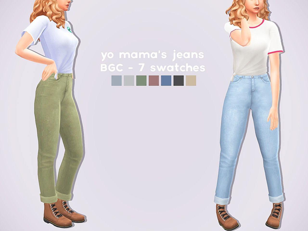 Lana CC Finds - gloomfish: YO MAMA'S JEANS // THANK YOU FOR 666