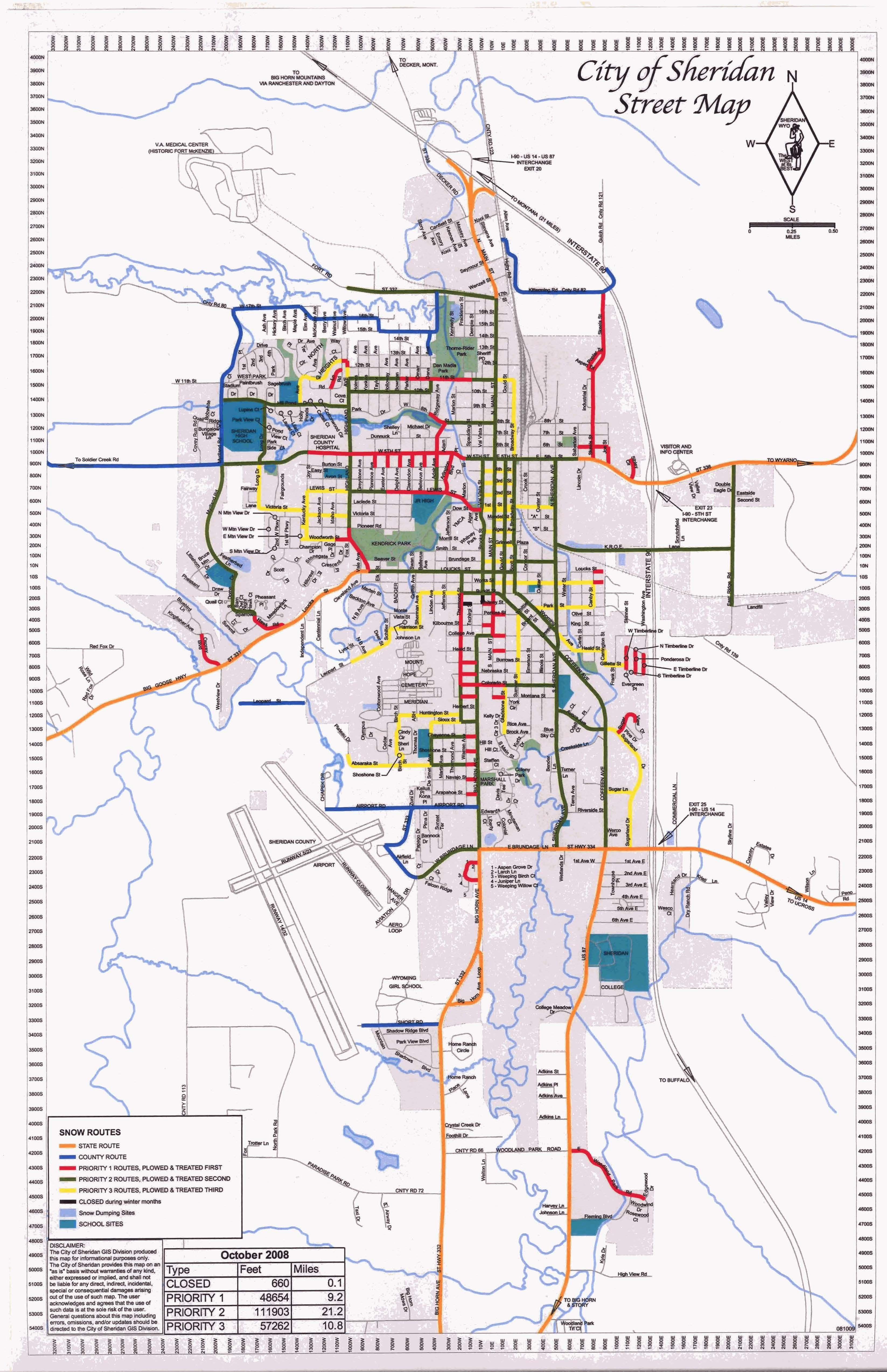 Walking paths and parks in Sheridan Wyoming Sheridan WY
