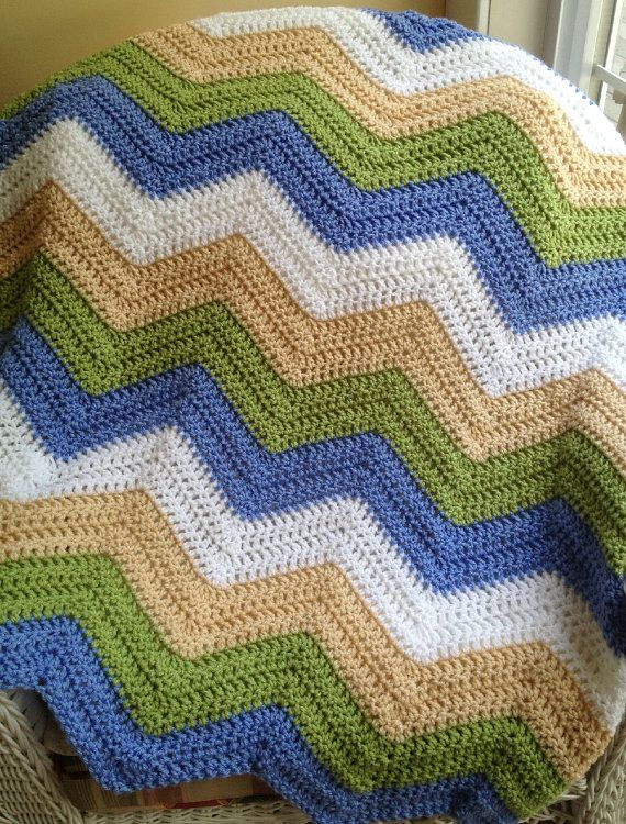 chevron ripple zigzag afghan | chevron zig zag ripple baby blanket ...