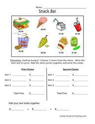 Resources Worksheets Money Worksheets Money Worksheet Have Fun Teaching Money worksheet for grade 3