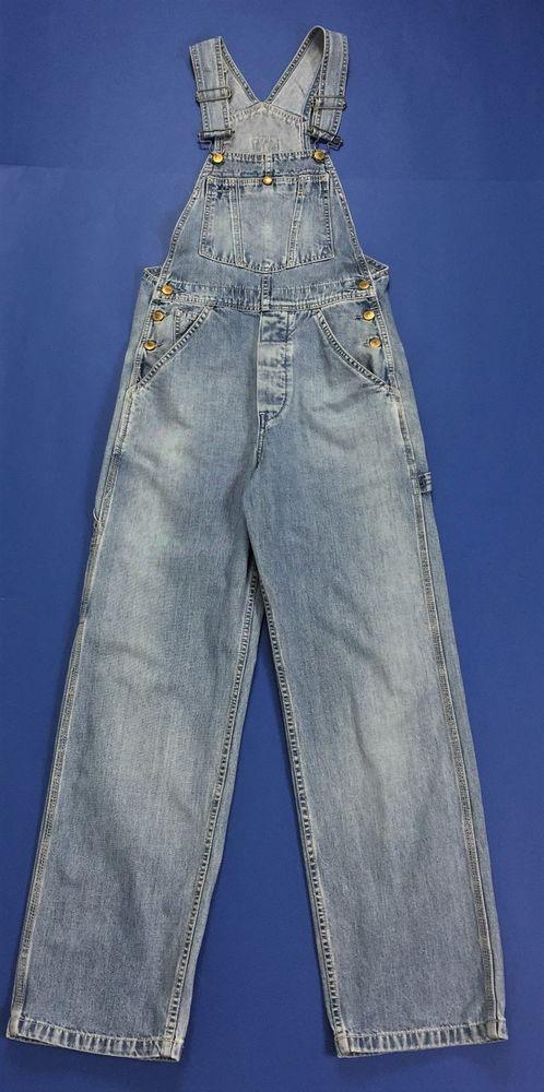 Levi s salopette XS 667 bib vintage overall hot jeans boyfriend blu levis  T1363 f24ea4e7463