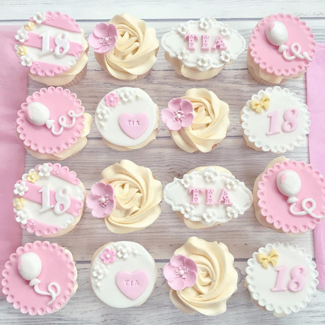 Todays Pretty 18th Birthday Cupcake Order Facebook Cakesbycatherinex
