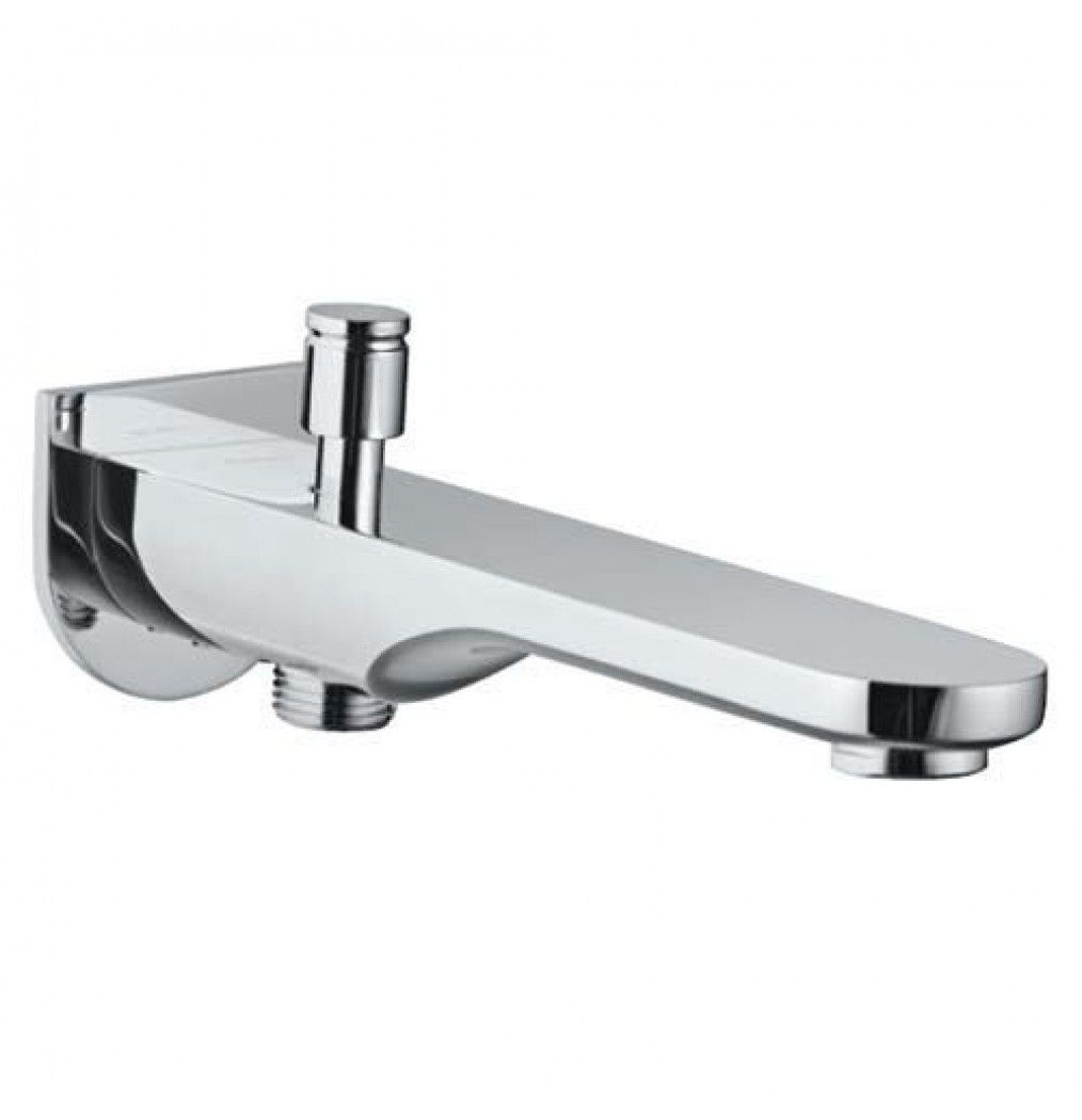 Jaquar Ornamix Prime Bath Tub Spout With Button Attachment For Hand Shower Wall Flange SPJ 10463PM