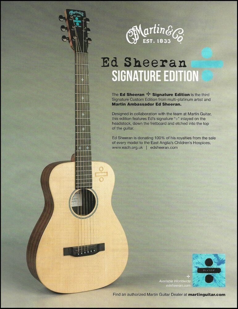 ed sheeran signature edition