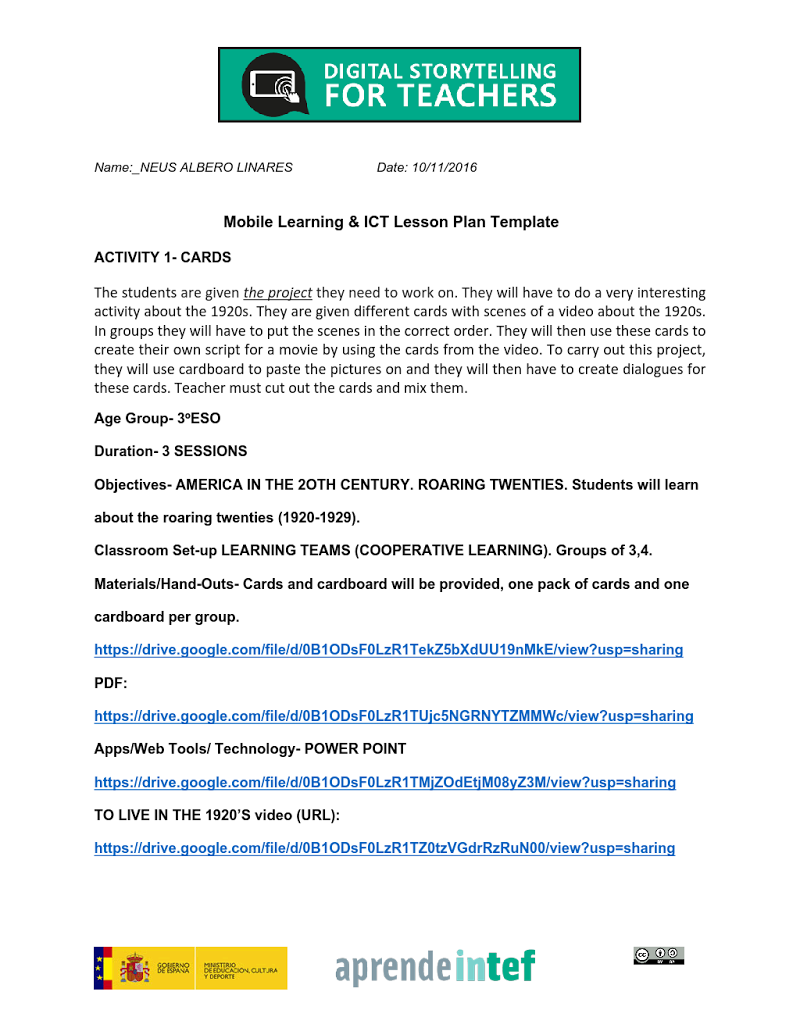 Module  Activity  Mobile Learning And Ict Lesson Plan