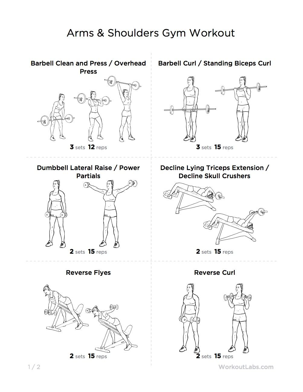 shoulders and arms workout men | arm back and shoulder workout