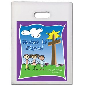 Jesus is risen easter goodie bags set of 12 easter pinterest jesus is risen easter goodie bags set of 12 negle Choice Image