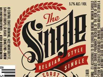 The Single - Central Coast Brewing Co. Beer Label | Beer