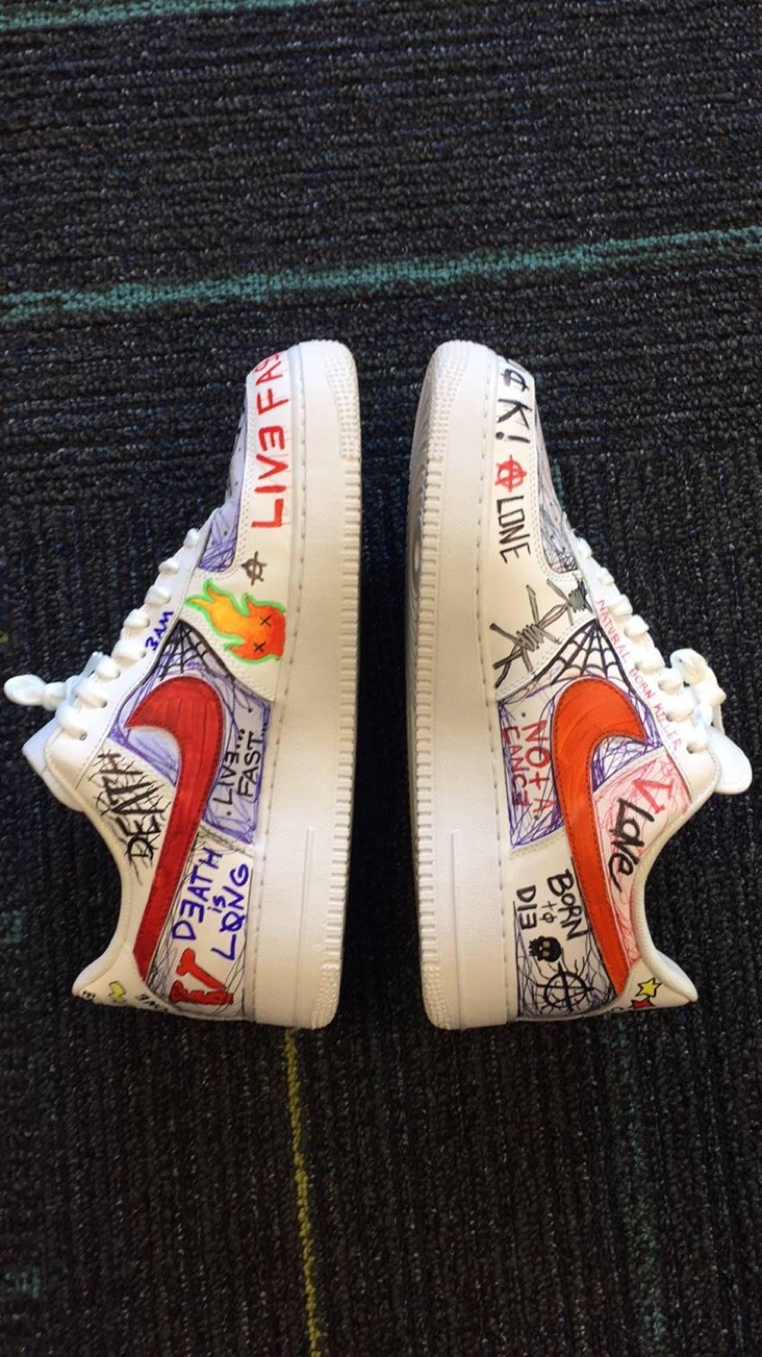 e1e6f06acf866 Nike Custom Nike Air Force Vlone Asap Mob Size US 12.5 / EU 45-46 - 1