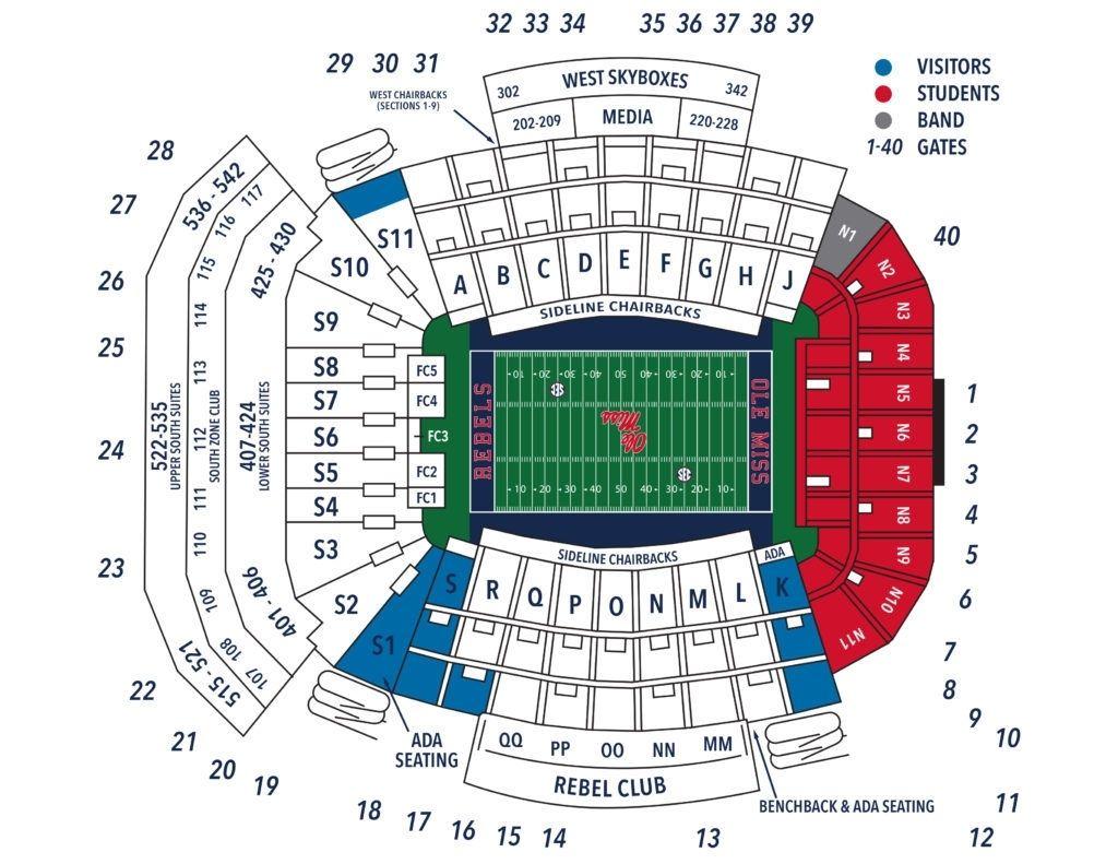Brilliant Vaught Hemingway Stadium Seating Chart