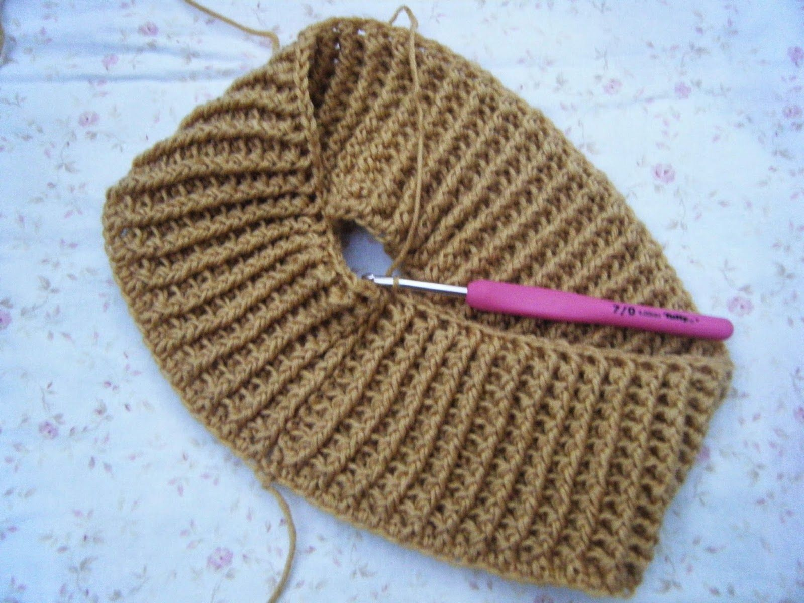 How to make a ribbed crochet collar   Crochet - Stitches & Tips ...