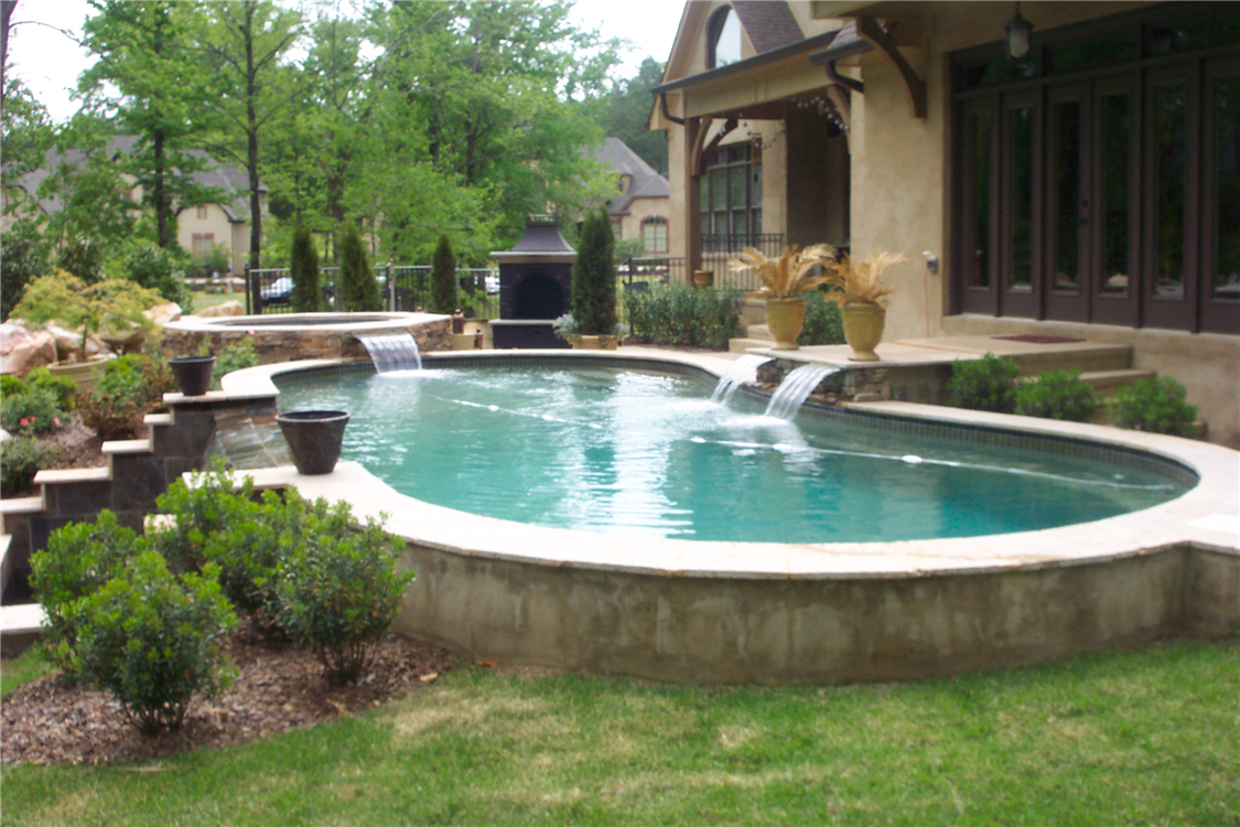 Image result for swimming pool on a slope | Building a pool ...