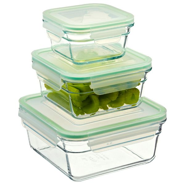Glasslock Square Food Containers With Lids