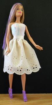 Barbie Vestido de Verão com saia de renda