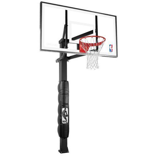 Academy Spalding 60 Glass Inground Basketball System Basketball Systems Portable Basketball Hoop Basketball Floor