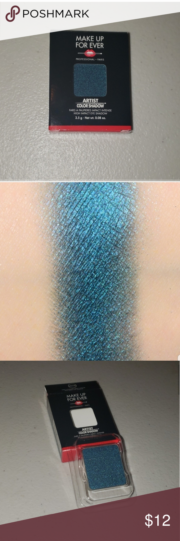 2/13 makeup forever eyeshadow refill Peacock blue Any