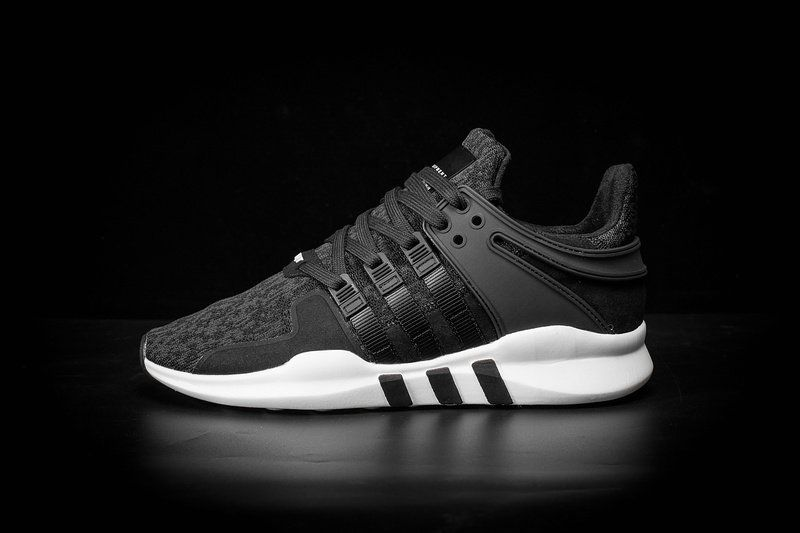 online store 2cc03 df29b Officiel Adidas EQT Support ADV Milled Leather Black Noir 2017 New Shoes  Youth Big Boys Sneakers