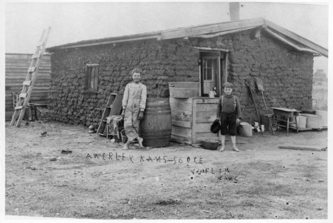 Sod House Near Claflin Kansas 1870 S Kansas Day Pioneer