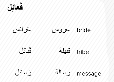 Arabic Broken Plurals Plurals Learning Languages Arabic