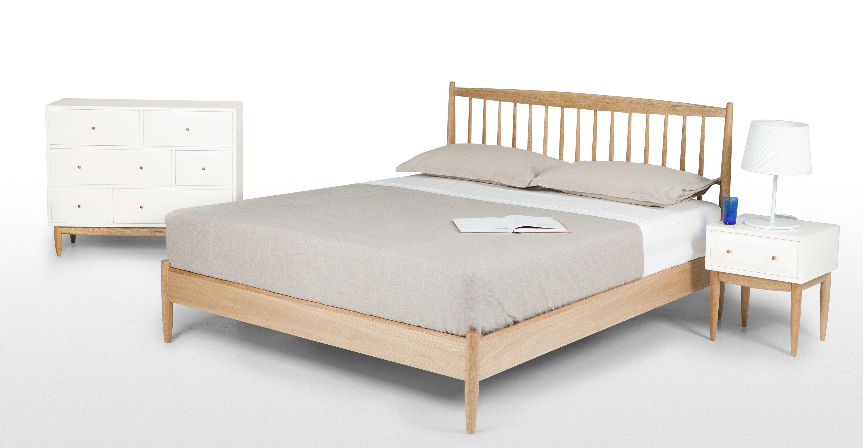 Willow, lit kingsize (160 x 200), chêne Double beds