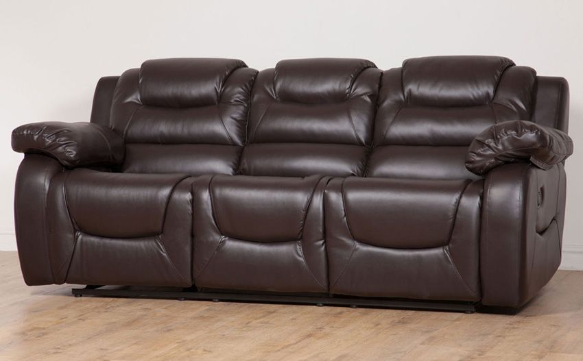 Vancouver Brown Leather Recliner Sofa - 3 Seater | My future Man ...