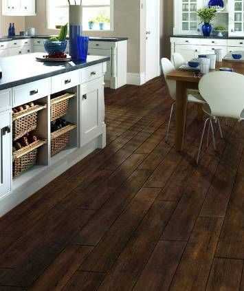 ceramic wood tile in kitchen | love the look of wood in your ...