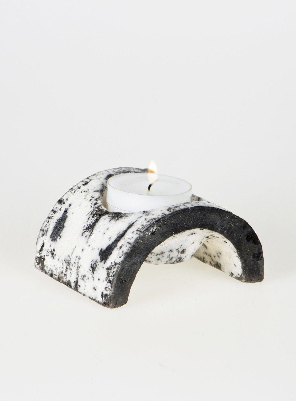 Small single Koivu Birch range Raku Ceramic Tea Light & by Maari. €29,00, via Etsy.