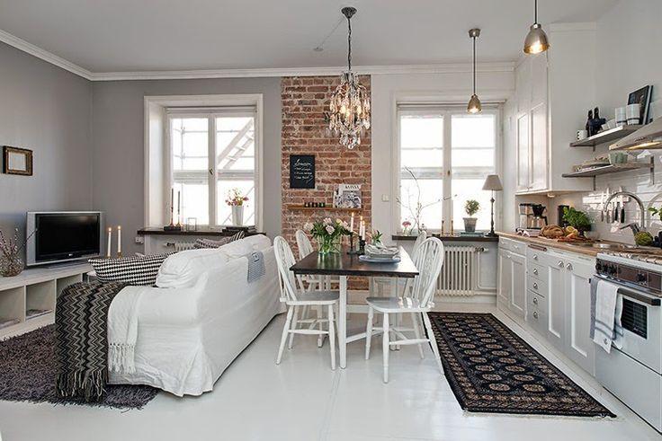Vivir c modamente en 36 m2 hoy compartimos un peque o - Decorar cocina comedor pequena ...