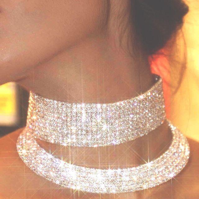 choker med diamanter