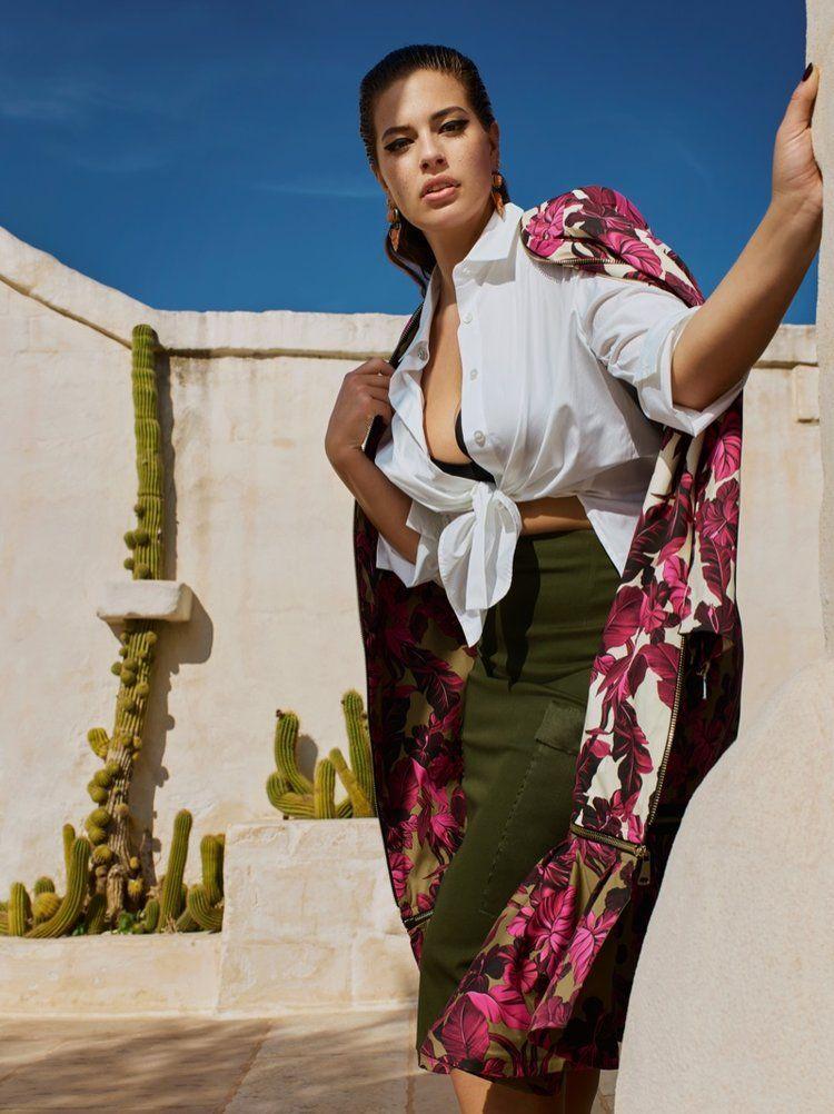 Ashley Graham Blooms Beautiful In Marina Rinaldi SS 2019 Campaign ... d02c5d477