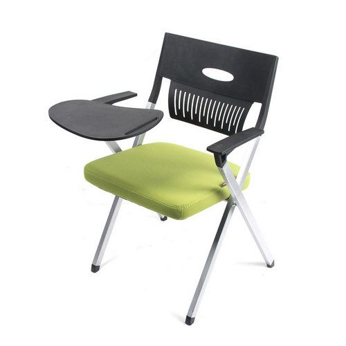 Custom Student Furniture School Study Conference Training Stackable Chair  With Writing Pad Tablet / Study Chairs