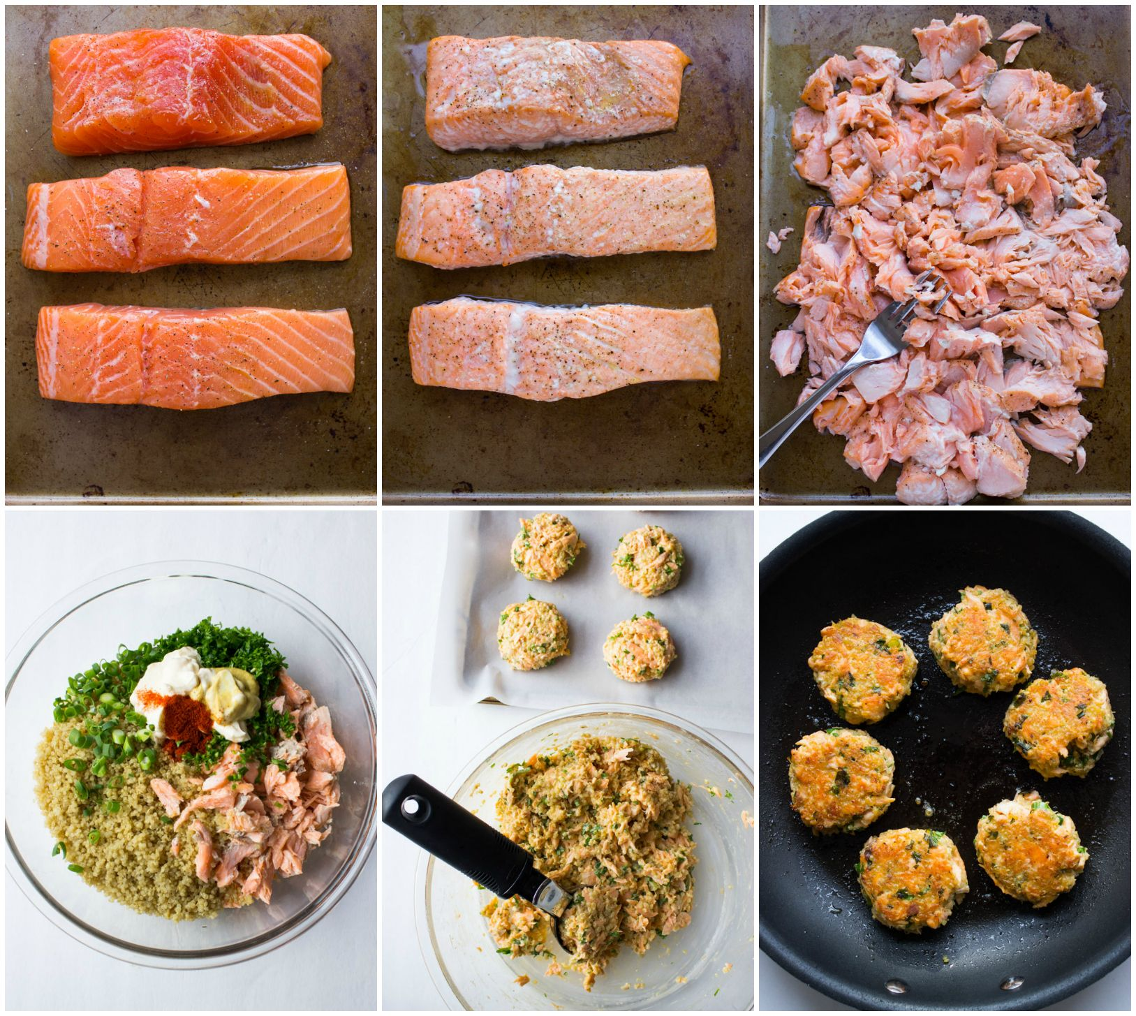 Salmon Quinoa Cakes - transform leftover salmon into these delicious super moist…
