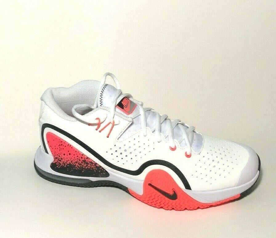 Nike Court Tech Challenge 20 Mens Tennis Shoes 8 5 White Hot Lava Bq0234 100 Ebay In 2020 Mens Tennis Shoes Tennis Shoes Nike