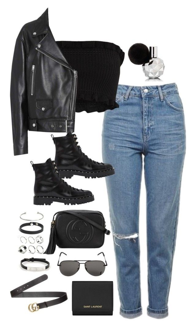 """""""Sem título #5204"""" by fashionnfacts ❤ liked on Polyvore featuring Topshop, Acne Studios, Valentino, Gucci, Yves Saint Laurent, ASOS and Cartier"""