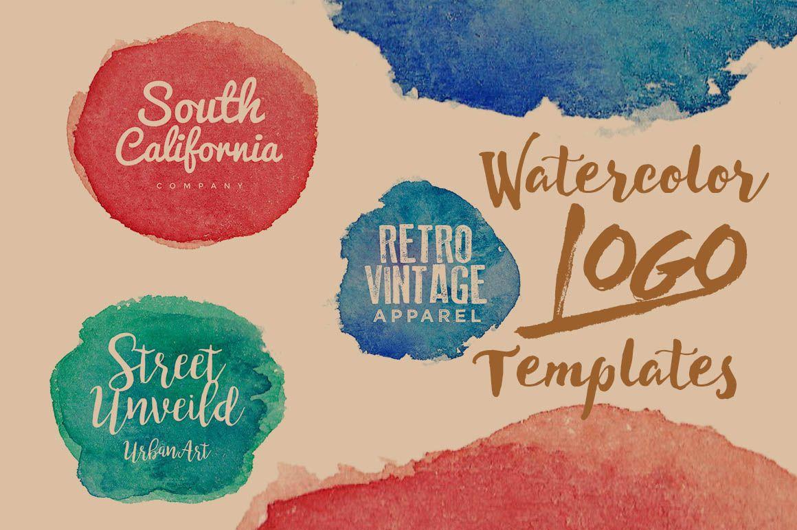 3 Free Watercolor Logo Templates