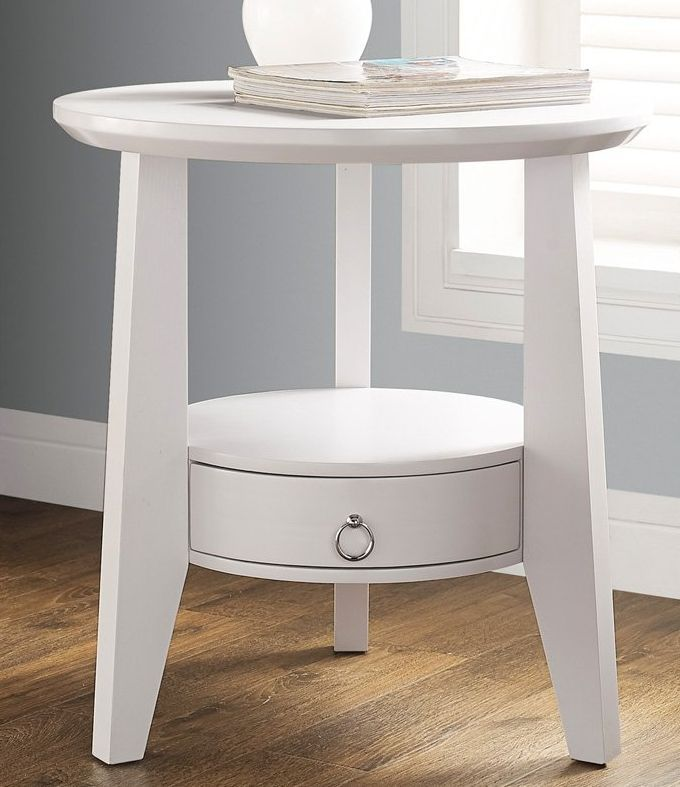 Small Round End Table Cappuccino White End Tables White