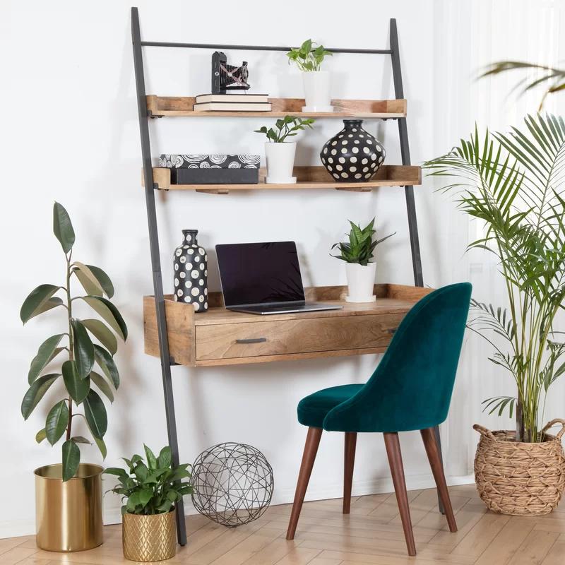 Harton Leaning Ladder Desk Reviews Allmodern In 2020 Desk In Living Room Home Decor Home Office Decor