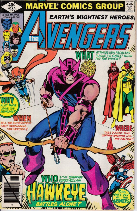 Avengers 1963 1st Series 189 November 1979 Issue  by ViewObscura, $2.00